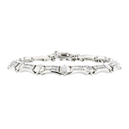 Stylish Modern 14K White Gold Ladies Diamond Bracelet - 1.56CTW - Brand New