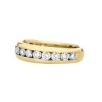 Elegant Modern Ladies 14K Yellow Gold Diamond Ladies Ring Band - 1.12CTW - New