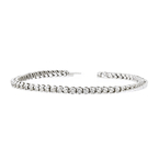 Elegant Modern 14K White Gold Ladies Diamond Eternity Bracelet - 2.31CTW - New
