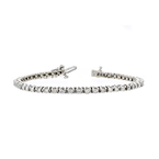 Stunning Modern 14K White Gold Ladies Diamond Tennis Bracelet - 2.78CTW - New