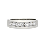 Stylish Modern 14K White Gold Diamond Mens/Womens/Unisex Ring - Brand New