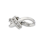 Charming Modern Ladies 14K White Gold Diamond Ring - Brand New