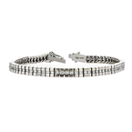 Elegant Modern Ladies 18K White Gold Diamond Bracelet - 1.98CTW - New