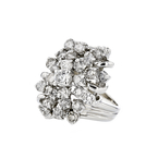 Gorgeous Modern 14K White Gold Diamond Ladies Statement Ring - 2.33CTW - New