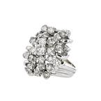 Gorgeous Modern 14K White Gold Diamond Ladies Statement Ring - 2.33CTW - New