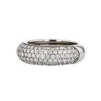 Stunning Modern Ladies Platinum Round Brilliant Cut Diamond Ring - 1.54CTW - New