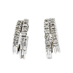 Exquisite Modern Ladies 14K White Gold Sparkling Diamond Earrings - Brand New