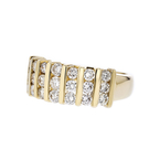 Gorgeous Modern Ladies 14K Yellow Gold Round Diamond Ring - 1.17CTW - New