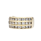 Stunning Modern Ladies 14K Yellow Gold Diamond Ring - 1.78CTW - Brand New
