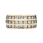 Stunning Modern Ladies 14K Yellow Gold Diamond Ring - 1.78CTW - Brand New