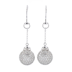 Gorgeous Modern Ladies 18K White Gold Diamond Earrings - 1.67CTW - Brand New