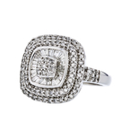 Gorgeous Modern 10K White Gold Diamond Ladies Statement Ring - 1.22CTW - New