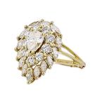 Gorgeous Modern 18K Yellow Gold Diamond Ladies Statement Ring - 3.15CTW - New