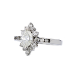 Charming Modern Ladies 14K White Gold Diamond Ring - 1.02CTW - Brand New