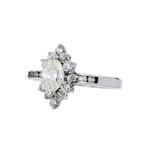 Charming Modern Ladies 14K White Gold Diamond Ring - 1.02CTW - Brand New