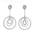 Exquisite Modern Ladies 14K White Gold Heart-Shaped Diamond Earrings - 1.83CTW