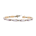 Charming Modern Ladies 18K Rose & White Gold Diamond Bracelet - 1.08CTW - New