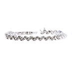 Elegant Modern 14K White Gold Ladies Lite Brown Diamond Bracelet - 1.80CTW - New