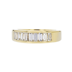 Elegant Modern 14K Yellow Gold Lady's Diamond Ring - Brand New