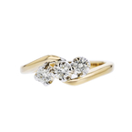 Charming Modern 14K Yellow Gold Diamond Womens Ladies Ring - Brand New