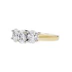 Stylish Modern 14K Yellow Gold Diamond Ladies Ring Band - 1.17CTW - Brand New