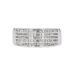 Stunning Modern 14K White Gold Diamond Womens Ladies Ring - 1.35CTW - Brand New