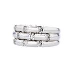 Exquisite Modern Ladies 14K White Gold Sparkling Diamonds Ring - Brand New
