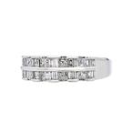 Stylish Modern 14K White Gold Ladies Diamond Ring - Brand New
