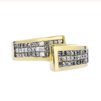 Stylish Modern 18K Yellow Gold Womens Diamond Ring - 1.10CTW - Brand New