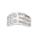 Elegant Modern 18K White Gold Ladies Lite Brown Diamond Ring - 1.01CTW - New