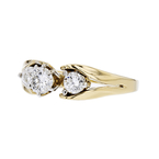 Exquisite Modern Ladies 14K Yellow Gold Sparkling Diamond Ring - 1.02CTW - New