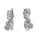 Exquisite Modern Ladies 10K White Gold Diamond Earrings - 1.24CTW - Brand New