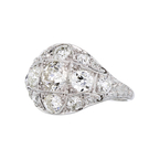 Gorgeous Modern Platinum Diamond Ladies Statement Ring - 2.20CTW - New
