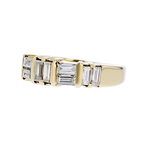 Elegant Modern 14K Yellow Gold Ladies Baguette Cut Diamond Ring - 1.22CTW - New