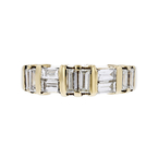 Elegant Modern 14K Yellow Gold Ladies Baguette Cut Diamond Ring - 1.22CTW - New