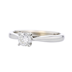 Charming Modern Ladies 14K White Gold Engagement Diamond Ring - Brand New