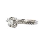 Exquisite Modern 14K White Gold Ladies Diamond Double Ring - Brand New