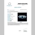 Exquisite Modern Ladies 14K White Gold Blue Sapphire Diamond Halo Ring - New
