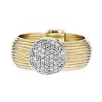 Stunning Modern 14K Yellow & White Gold Sparkling Diamond Ladies Ring - New