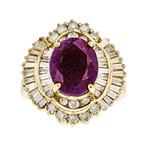 Beautiful Modern Ladies 14K Yellow Gold Sparkling Diamond Ring - 1.13CTW - New