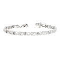 Stylish Modern Ladies 14K White Gold Diamond Bracelet Unique Design - Brand New