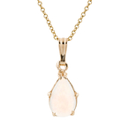 Modern Ladies 14K Yellow Gold Pear Shaped Opal Chain/Necklace & Pendant Set - New