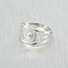 Ladies Vintage Retro Antique 925 Silver Ring - Size 6.25