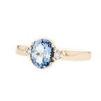 Elegant Ladies 14K Yellow Gold Diamond & Topaz Ring - Brand New