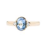 Elegant Ladies 14K Yellow Gold Diamond & Topaz Ring - Brand New