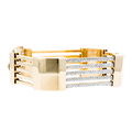 Stylish Ladies 18K Yellow Gold Diamond Bangle Bracelet - 1.62CTW - Brand New