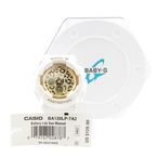 Casio BA-120LP-7A2ER Animal Print Ladies Baby-G Watch Leopard Dial Watch - White