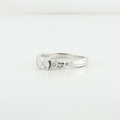 Stunning Past Present Future Three Diamond 14K White Gold Ladies Size 7 Ring
