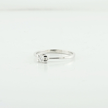 "Unique Solitaire 14K White Gold Diamond Engagement Ladies ""Say Yes"" Ring"