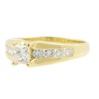 Estate 14K Yellow Gold Ladies Princess Cut Diamond Engagement Ring - 0.85CTW
